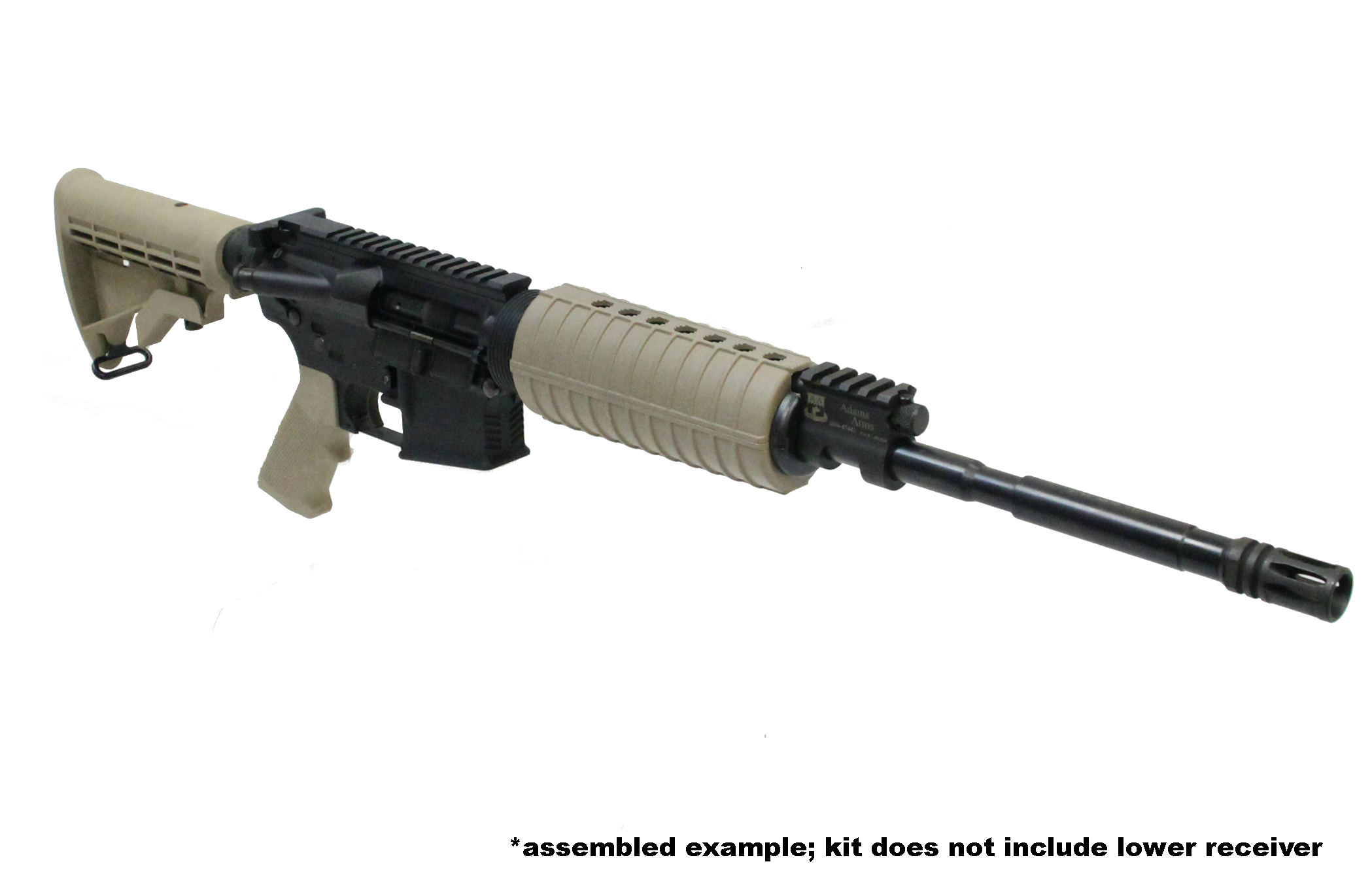 *example only; kit does not include lower receiver